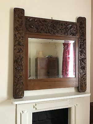 Finely Carved 17th Century Italian Wood Vanity Mirror