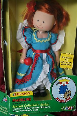 """New Doll 8"""" Madeline Special Collectors Stickers International Mexico Costume"""