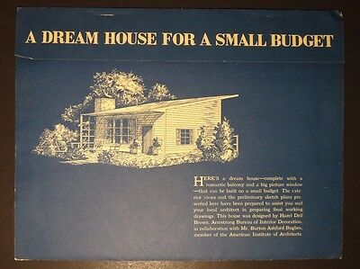 Vintage 1947 A Dream House For A Small Budget Floor Plans and Elevations
