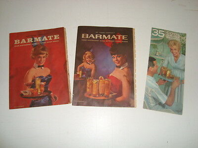 """Lot of 3 Vintage Southern Comfort """"Barmate""""booklet drink mixing (2), other  (1)"""