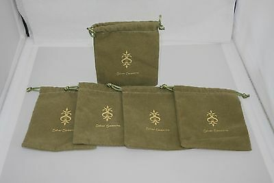 "NEW SILVER SEASONS BY MICHAEL MICHAUD DUST BAG FOR JEWELRY 4"" x 5"" - SETS OF 5"
