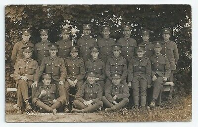 WW1 ACC Army Cyclist Corps Group Photo Unused RP Postcard Northfields Ealing