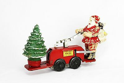Vintage Lionel Santa and Mickey Mouse Wind Up Mechanical Hand Car ca1935