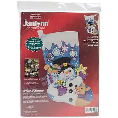 Frostys Favorite Ornament Stocking Felt Applique Kit-18 Inch Long 049489219978