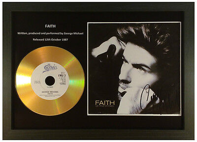 George Michael-'faith'- Signed Gold Presentation Disc