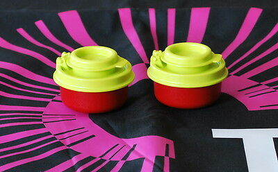 Tupperware Smidget Salt and Pepper Shaker RED AND GREEN NEW BPA FREE SHIPPING