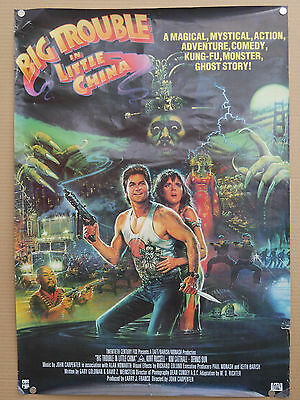 big trouble in little china ROLLED 1986 uk video shop film poster john carpenter