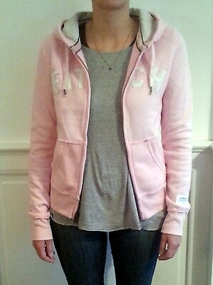 Sweat capuche Hoodie Abercrombie & Fitch rose neuf L femme
