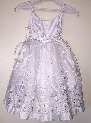 Baptism Gown, Christening Formal Dress, Flower Girl, vestido Bautizo w/ Headband