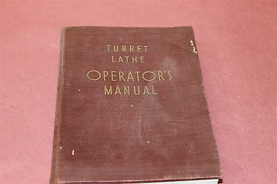 Turret Lathes Operations Manual 1940