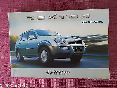 Ssangyong Rexton Owners Manual - Owners Guide - Owners Handbook (Ss 13)