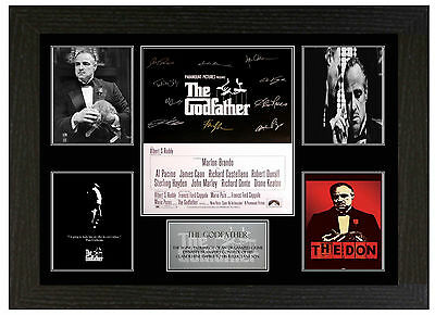 Godfather  - A3 Signed Framed Collectors Display Picture