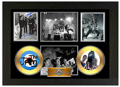 The Jam - A3 Signed Framed Gold Vinyl Collectors Cd Display Picture