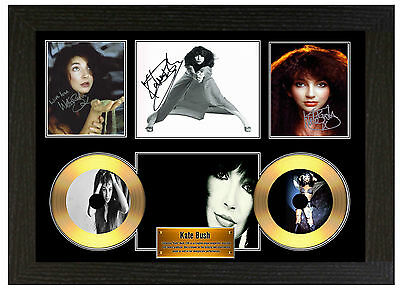 Kate Bush - A3 Signed Framed Gold Vinyl Collectors Cd Display Picture