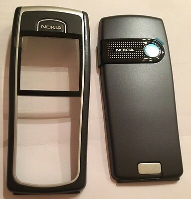 NEW FRONT & BACK TO FIT A NOKIA 6230 6230i FASCIA HOUSING COVER BLACK NO KEYPAD