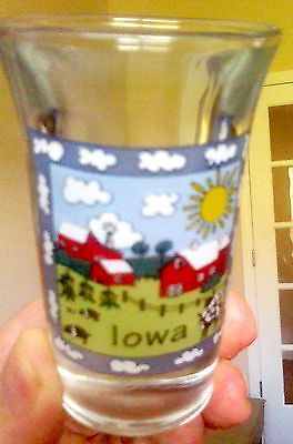 Iowa shot glass