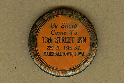 Vintage 13th Street Inn, Bar Marshalltown, Iowa IA, Sharpen Your Memory & Knife