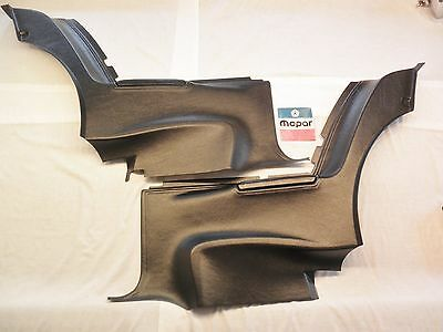 1971 71 72 73 Dodge Plymouth B body rear lower door panels set black new repro