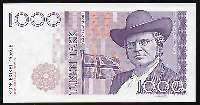 1000 Takk (thank) Norway 17. may fest essay uncirculated banknote design 2016