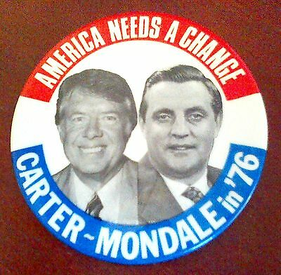 Carter - Mondale in '76 pinback button