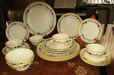 Franciscan Desert rose Small Fruit Set 4 Dinner Salad plate Bowl Cup Cereal Bowl