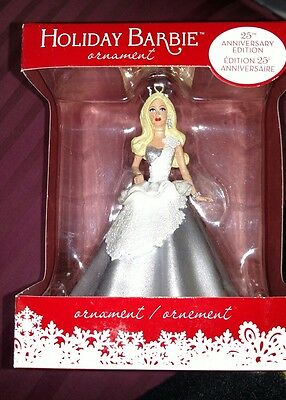 Barbie 2013 Holiday Collector 25th Anniversary Edition ORNAMENT Brand New