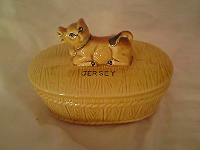 A Jersey Cow Butter Dish, See-Below, Free-Mailing.