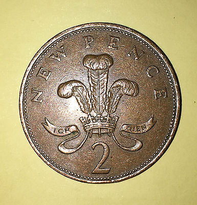 New pence 2p 2 pence Rare coin collectable  year 1971 queen elizabeth
