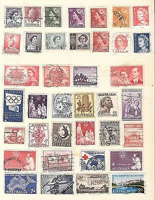 Australia Used Selection Of  Stamps On 4 Pages. Australian