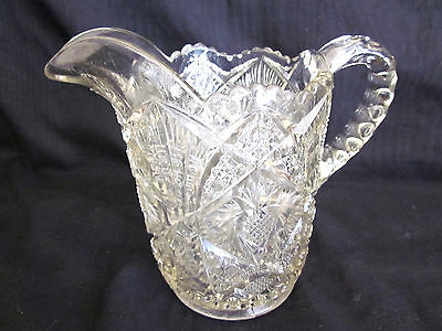 ~Vintage Clear Cut Glass Custard Jug - Vgc~