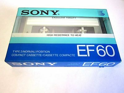 CASSETTE TAPE BLANK SEALED - 1x (one) SONY EF 60 [1985] made in Japan