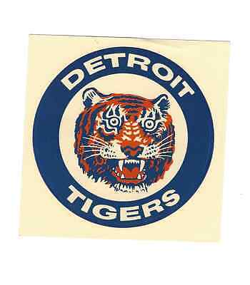Vintage 1960s ? Detroit Tigers Sticker Decal
