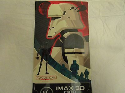 Star Wars Rogue One Collectible Ticket Regal Imax 3D Experience Week 2 Used