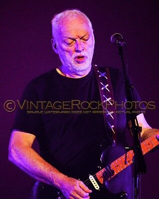 David Gilmour Photo 8x10 inch 2016 MSG NYC, NY Rattle That Lock Concert Tour 34