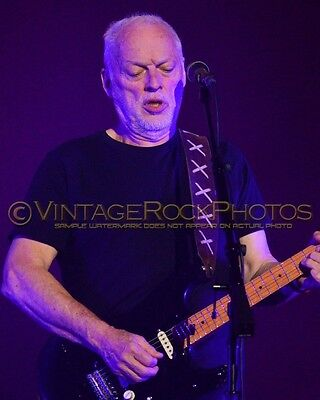 David Gilmour Photo 8x10 inch 2016 MSG NYC, NY Rattle That Lock Concert Tour 36