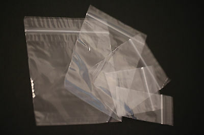 200 x CLEAR GRIP SEAL  RESEALABLE BAGS STORAGE POLY GRIP SELF TRANSPARENT
