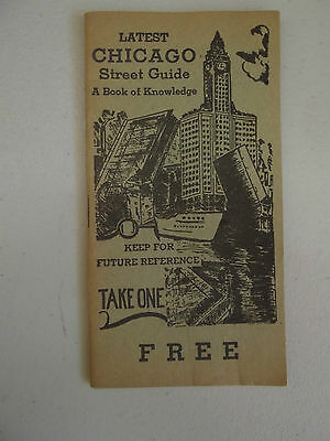 Chicago Street Guide & Book Of Knowledge 1950