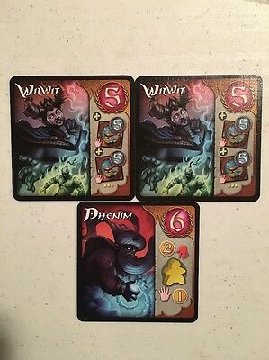 x2 Wil Wit x1 Dhenim Five Tribes Card Game Exclusive Promotion Card Set