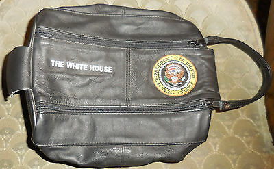 Leather Presidential Seal White House Toiletry Bag