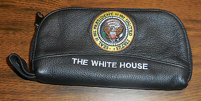 Black Leather Presidential Seal White House Glass Case