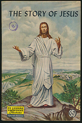 CLASSICS ILLUSTRATED SPECIAL 129a vgf THE STORY OF JESUS 1st printing 1955