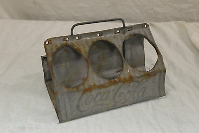 Vintage - Coca-Cola Tin Caddy 6 Pack Carrier 1950's - Metal