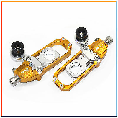 NEW Chain Adjuster with spool Honda CBR 1000RR 2004- 2007 2005 2006 2007 gold