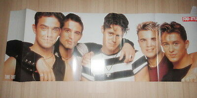 """Take That Robbie Williams 11 x 33 """" PIN UP POSTER Thailand Magazine Clipping"""