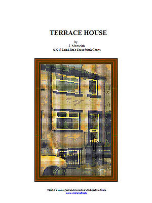 TERRACE HOUSE- cross stitch chart