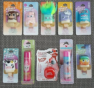 10 Flavored Lip Gloss Lip Balm Pucker Pops Girls Gift Party Favors Treat Bag NWT
