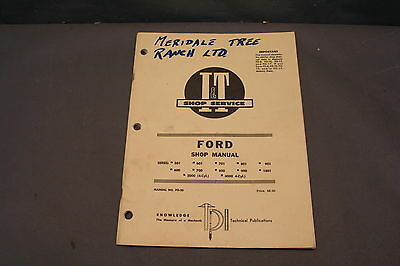 Ford  Model Tractor (See Discription)  I & T  Shop Service  Manual