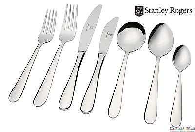 NEW STANLEY ROGERS ALBANY 84 PIECE CUTLERY SET Fork Knife Spoon Tea Cafe Dinner