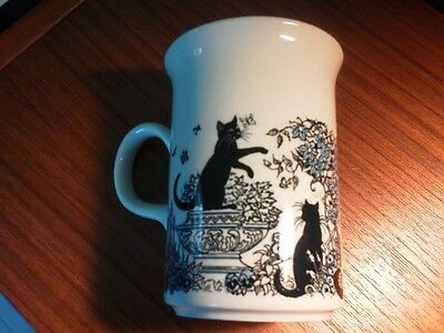Churchill Mug with Cats, Made in England