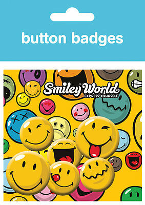 Smiley Expressions Badge Pack / Pin Set BRAND NEW